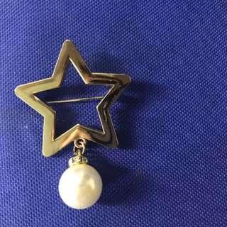 星星珍珠時尚安全別針