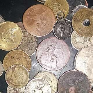 Old And Rare Coins From Few Countries Including philippines old 1 Peso Coins 1972-74