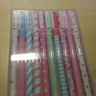 韓國10色 超可愛中性筆