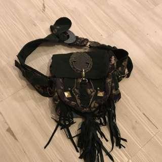 Handmade bag worn 4 ways