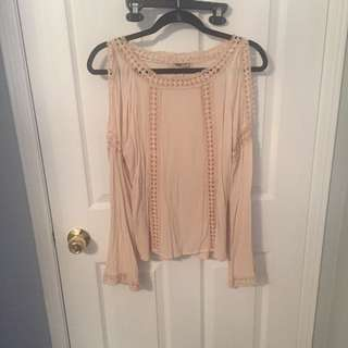 Bell Sleeve Blush Top