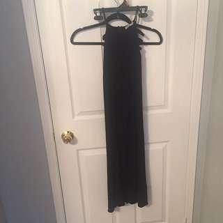 Black Slit Maxi Skirt