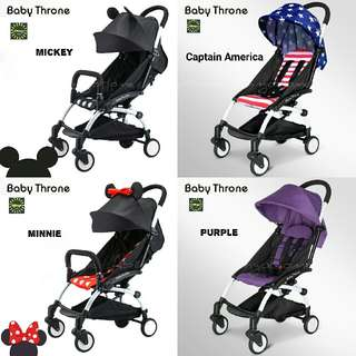 Light Weight Baby Trone Stroller (8 Colours)
