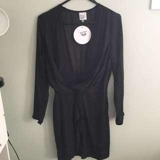 BLACK LOW DRESS