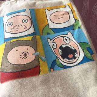 A Bag With Adventure Time Carton Character On It