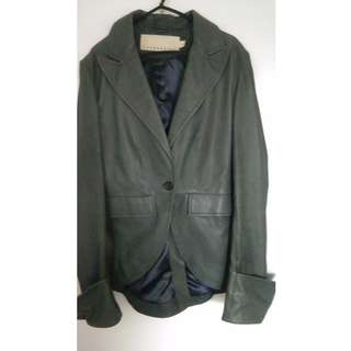SIZE 8 - COOPER BY TRELISE GREENY/GREY LEATHER JACKET