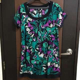 H&M Short Floral Shift Dress