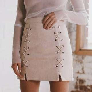 Suedue Skirt In Nude