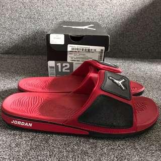 New Air Jordan Hydro 3 Red Jandals US 12