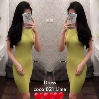 Dress Warna Lime