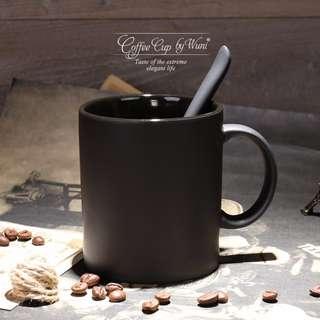 霧黑北歐風瓷器馬克杯 北歐風咖啡杯 北歐風馬克杯 消光黑馬克杯 消光黑 馬克杯 咖啡杯 霧黑