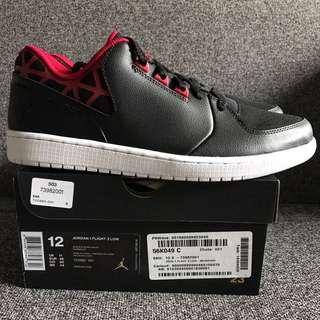 New Air Jordan 1 Flight 3 Low US 12 Red Black