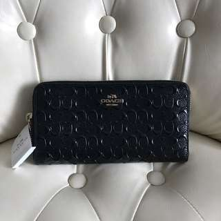 Coach patent leather long wallet