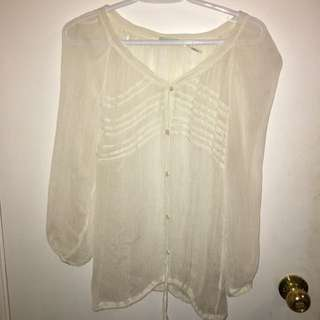 UO SHEER LOOSE TOP