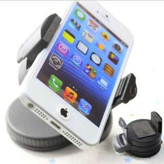 360 Degree Rotating Sucker Mount Bracket Mobile Phone Holder Stand / Car Accessories