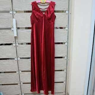 Red Night Gown Dress