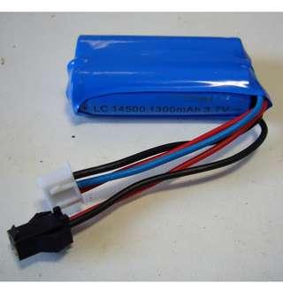 Li-ion 14500 battery pack, 7.4V, 1200mAh