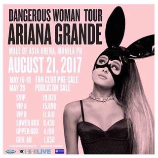Ariana Grande concert tickets