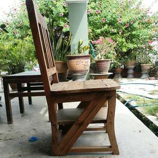 Vintage Wooden Chair Very Heavy Can Be Used As Chair.. Decor Rack.. Stepper Or Ladder