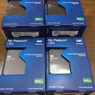 6 PCS WD 500 MB Hard Drive. [2500 Each]