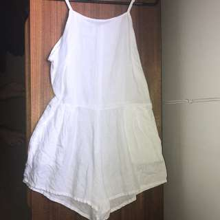 SIR The label White Linen Playsuit