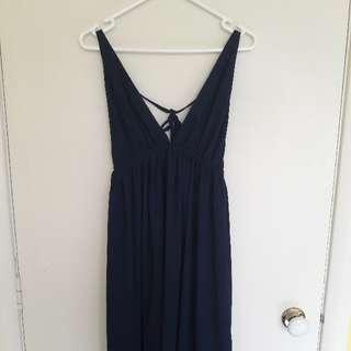 Chiffon Boutique Navy Blue Ball Dress