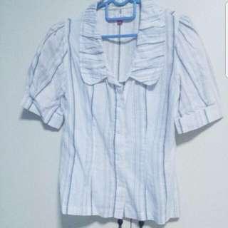 White & Stripes Top / Blouse