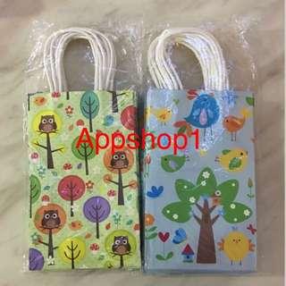 Party Goodie Paper Bag- Owl / Birdies