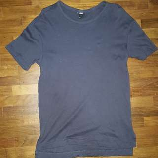 (XS) H&M Over Size Wide Neck Tee