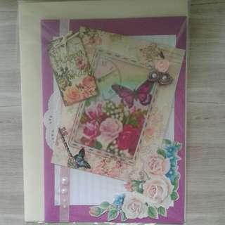 Handmade Vintage Floral Birthday Cards
