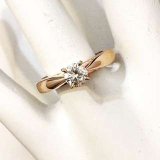 14k Rose Gold .36ct. Diamond Engagement Ring