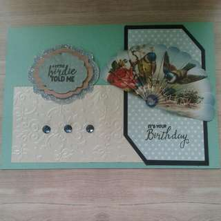 Handmade FANtastic Fan Birthday Cards