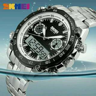 Jam tangan pria skmei digital analog waterproof casio seiko ps0