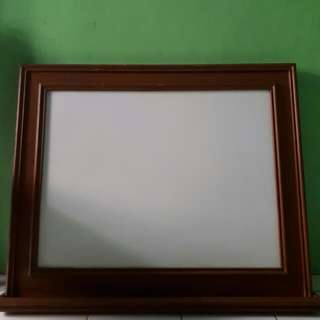 Black and White Board Kayu Jati