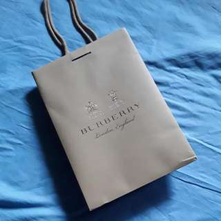 BURBERRY PAPER BAG #616