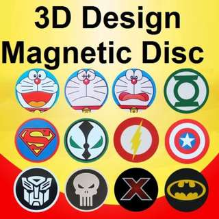 5CM 3D Cartoon Design Magnetic Disc Plate for 360 Degree Magnetic Phone Holder / UF-X / Steelie Smart Stand / Car Accessories