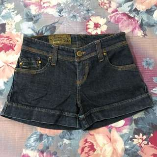 Hot Pants Jeans Stradivarius Size 27 Warna Navy