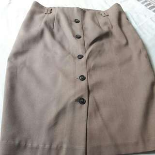 Brown Vintage Uptown Girl Skirt