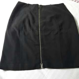 Atmosphere - Black Zipper Skirt