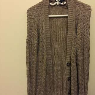 Lazy Knit Cardigan Size Medium