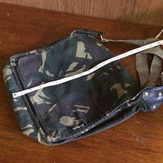 Army Messenger Bag - Blue Magic