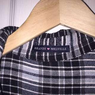 Brandy Melville Plaid Flannel Shirt