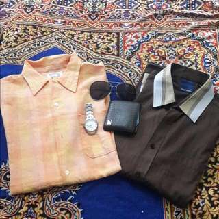 orange short sleeve shirt