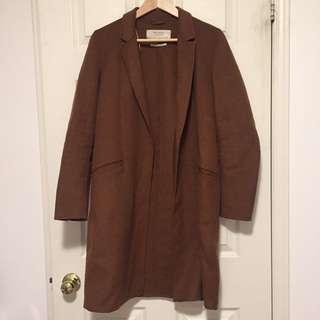 Zara Brown / Tan Wool Coat