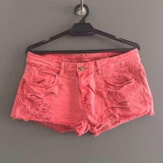 [EUR 38] Zara Red Denim Shorts