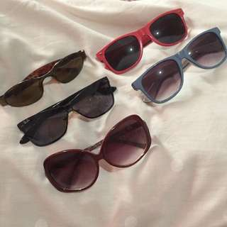 Various Brands Of Sunglasses