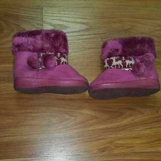 女童雪靴,17公分,約1.5歲~2歲穿