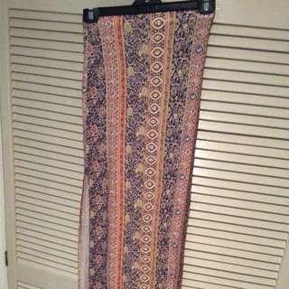 Maxi Length Boho Skirt