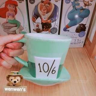【Wenwens】日本帶回 正版 迪士尼 愛麗絲 帽客 瘋狂帽客 瘋帽子 愛麗絲夢遊仙境 帽子 造型 杯子 陶瓷 馬克杯