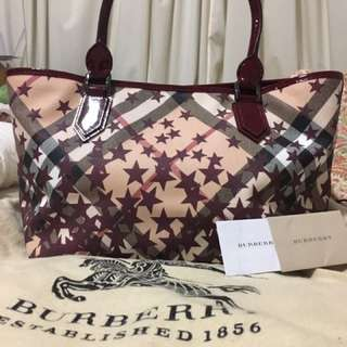 Authentic Burberry Star Tote Bag